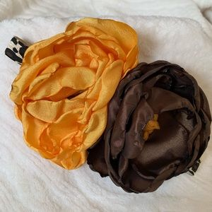 Other - Handmade mustard and brown headband with leapard